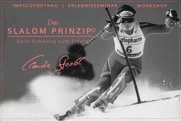 Claudia Strobl, Das Slalom Prinzip, Vortrag, Erlebnisworkshop, Workshop